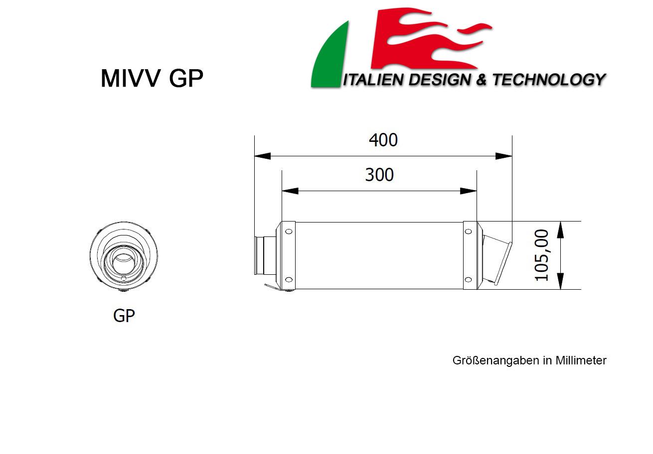 MIVV Kawasaki Round Underseat ZX-10 R ab 2007 bis 2007