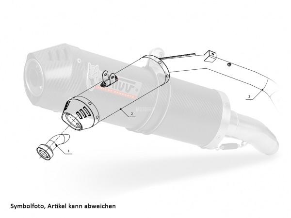 MIVV Honda Auspuff Oval Underseat CBR 1000 RR ab 2006 bis 2007