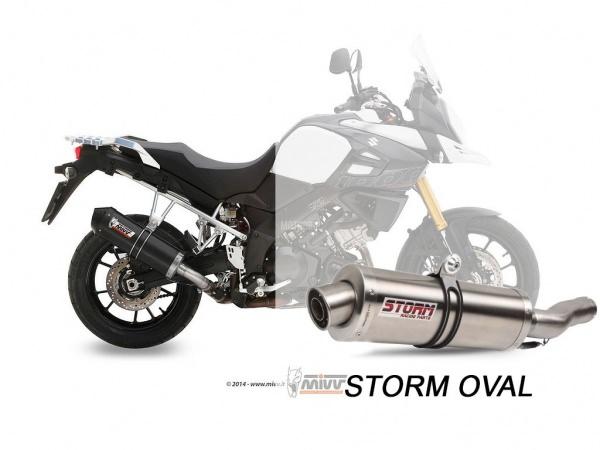 STORM Oval Suzuki DL V-STROM 1000 Auspuff ab 2014
