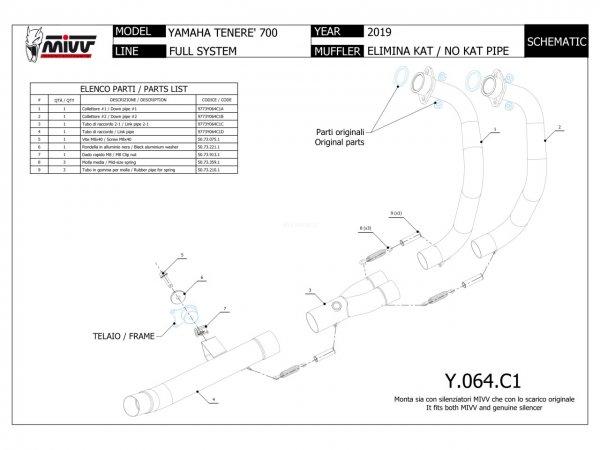 Yamaha Tenere 700 Kat-Ersatz Krümmer DE-CAT