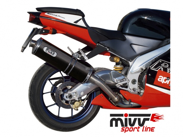 MIVV Aprilia Auspuff Oval RSV 1000 ab 1998 bis 2003