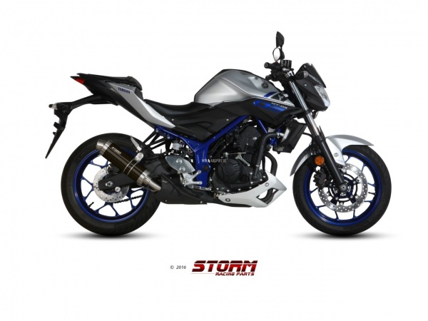 STORM GP Schwarz Yamaha MT-03 Auspuff ab 2016