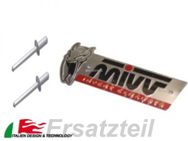MIVV Logo mit 2 Nieten (125x34 Konvex )