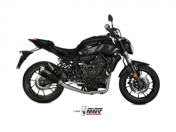 MIVV Yamaha MT-07 Auspuff Delta Race High Up Komplettanlage ab 2014