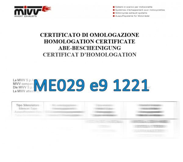 Zulassung MIVV ABE ME029 e9 1221
