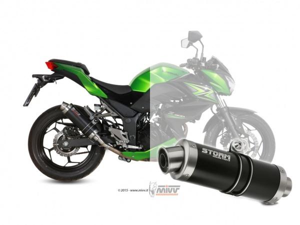 STORM GP Schwarz Kawasaki NINJA 300 Auspuff 2013 bis 2016