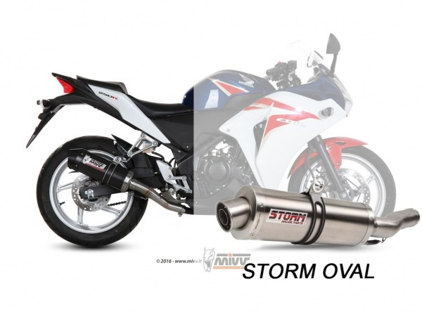 STORM Oval Honda CBR 250 R Auspuff 2011 bis 2014