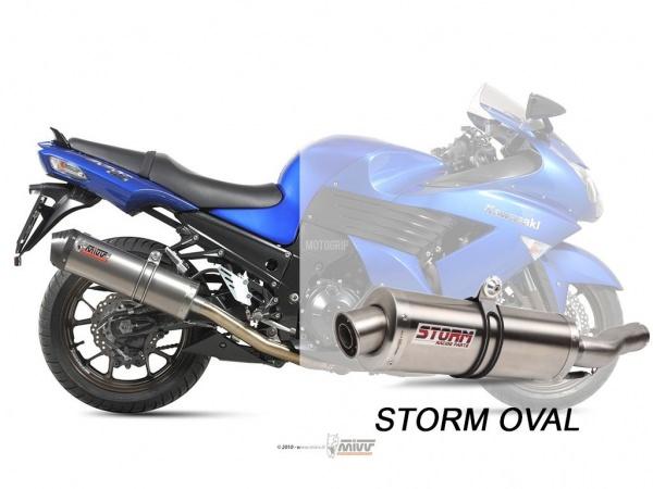 STORM Oval Kawasaki ZZR 1400 Auspuff 2008 bis 2011