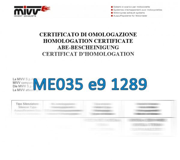 MIVV ABE Zulassung ME035 e9 1289
