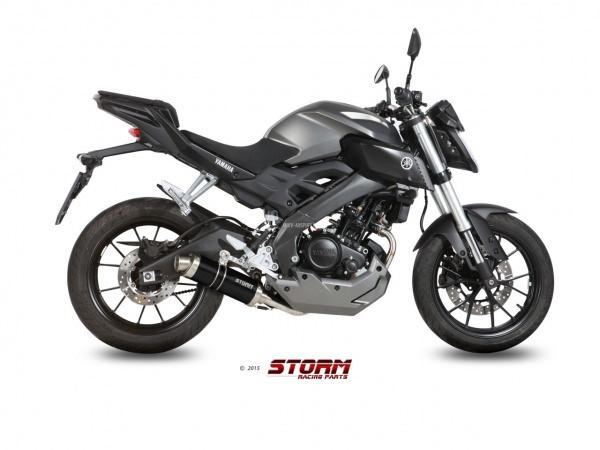 STORM GP Schwarz Yamaha YZF R125 Auspuff 2014 bis 2018