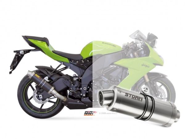 STORM GP Kawasaki ZX-10 R Auspuff 2008 bis 2010