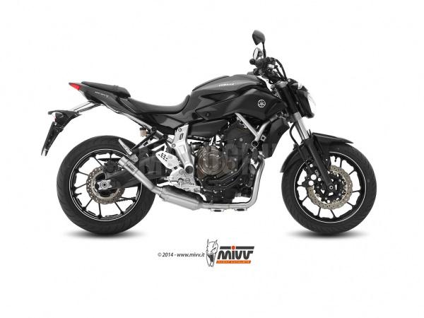 MIVV Yamaha Auspuff Speed Edge Offen MT-07 ab 2014