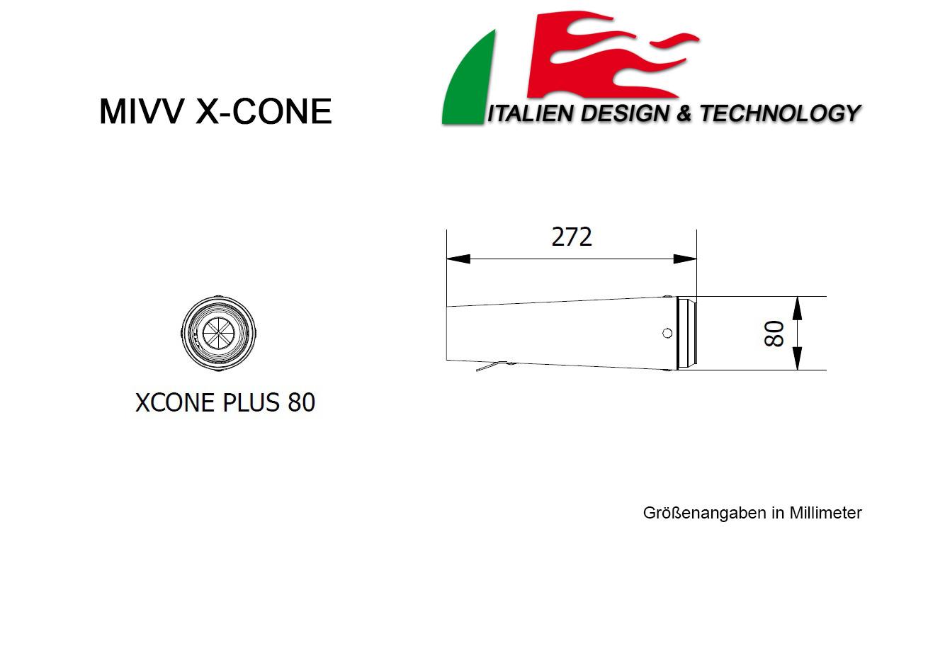 MIVV Honda X-Cone Plus Underseat CBR 1000 RR Auspuff ab 2005 bis 2005