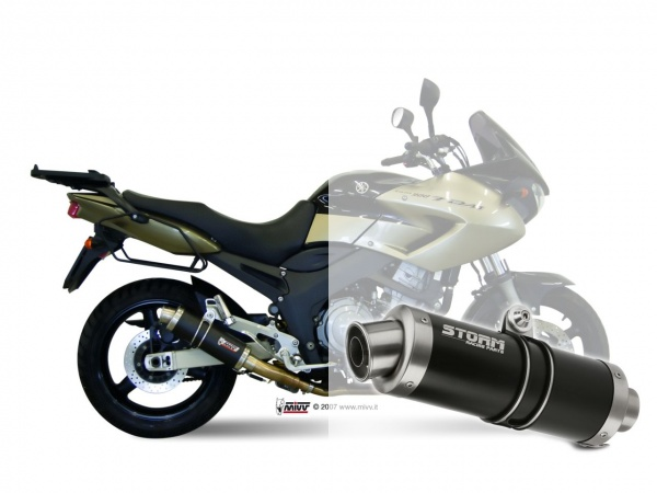 STORM GP Schwarz Yamaha TDM 900 Auspuff 2002 bis 2014