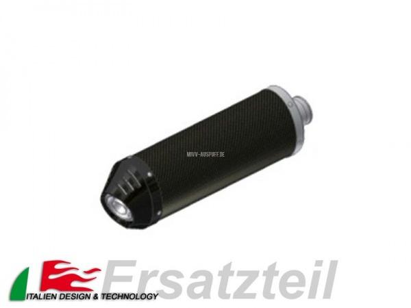 MIVV Oval Endschalldämpfer Carbon - Carbon Endkappe Vertikal Länge 400 mm