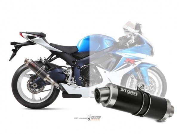 STORM GP Schwarz Suzuki GSX-R 600 Auspuff 2011 bis 2016